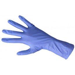 Перчатки нитрил, Голубые, 100шт DISPODENT S(6-7)
