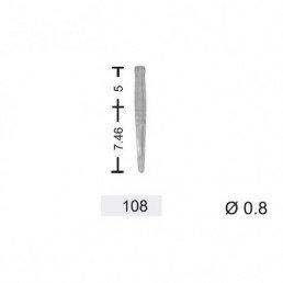 YuniPin беззольные штифты 0.8 мм #108 белые (100 шт/уп) Kagayaki (Кагаяки)