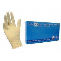 Перчатки латекс, 2хлор, 100шт,  Дисподент,  XL (9-10)