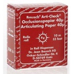 Копирка бумага BAUSH 40мик. ВК1016 прямая(рулон) красная (10м*22мм)