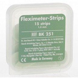 Копирка шаблоны BAUSH ВК251 гибкие (15 листов) зеленые  (1.5мм) (Fleximeter Strips)