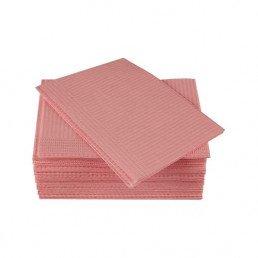 Салфетки нагрудники 2-х сл Розовые (500шт) КристиДент (Стандарт)