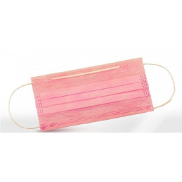 Маски на резинках Розовые (3шт/уп) 3-х слойные