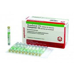 Скандонест 3% (50карп) БЕЗ Адреналина - карпульная анестезия Septodont