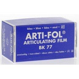 Копирка фольга BAUSH 8мик. ВК77 прямая(рулон) синяя двусторонняя (15м*75мм)