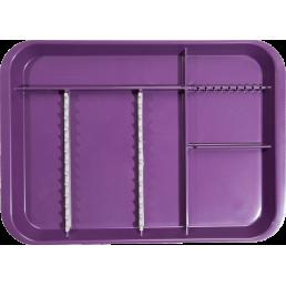 Лоток для инструментов плоский секционный фиолетовый, ZIRC