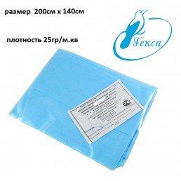 Простыня НЕ стерил  200 см Х 140 см, плотн 25гр/кв.м. (1шт) ГЕКСА
