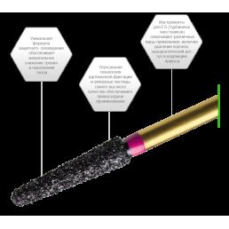 Бор для разрезания коронок из циркония PZ368-023F  (уп 10шт/блистер) PrimaDental (Zirconia)