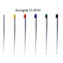 Штифты бумажные Дисподент 4 ассорти №15-40 (100шт)