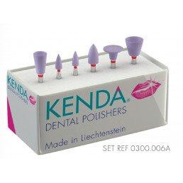 Кенда №0300.006 -набор полир. для композитов и керамики (диск, конус, чашка)