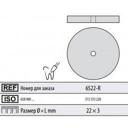 Полир ддя керамики без держателя ДИСК (закругл) 6522-R Kenda