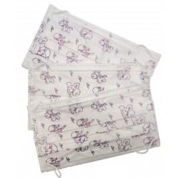 Маски на резинках с детским рисунком (100шт) ГЕКСА  3-х сл