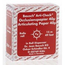 Копирка бумага BAUSH 40мик. ВК1014 прямая(рулон) красная (15м*16мм)