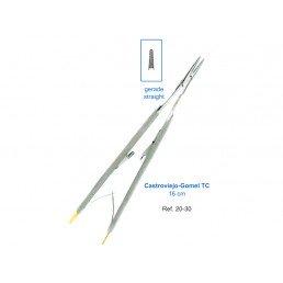 20-30 Иглодержатель микрохирургический прямой 16,0см Castroviejo-GomelTC,карбит-вольфрамовые вставки