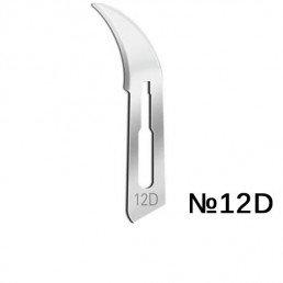 Лезвия д. скальп стерильные №12D STEELUXE (уп/100шт) (углеродистая сталь) APEXMED