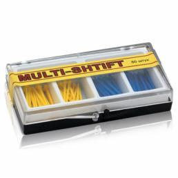 Мульти Штифт ассорти Желтые+Синие (80шт) -беззольные штифты Рудент