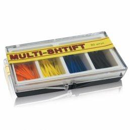 Мульти Штифт ассорти 4 цвета (80шт) -беззольные штифты Рудент