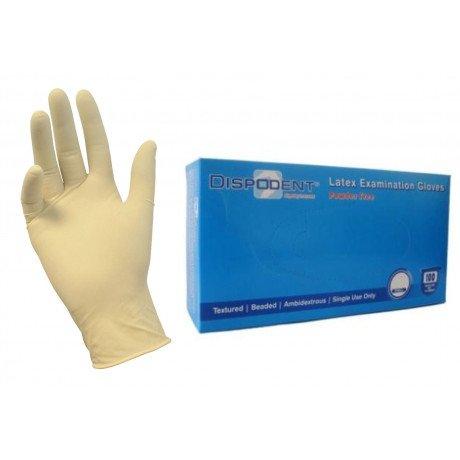 Перчатки латекс, 2хлор, 100шт,  Дисподент, S (6-7)