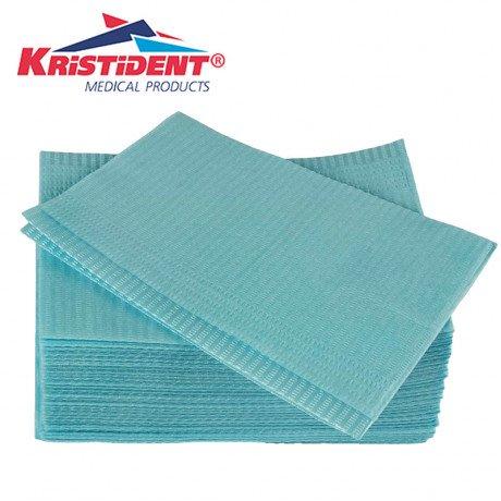 Салфетки нагрудники 2-х сл Голубые (500шт) КристиДент (Стандарт)