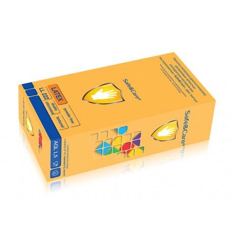 Перчатки латекс, 2хлор, 100шт, Safe&Care L(8-9)