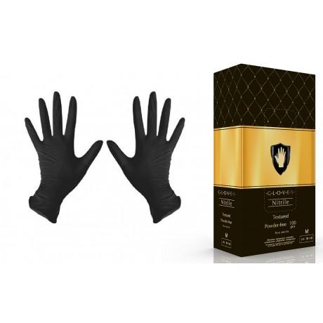 Перчатки нитрил, 100шт, ЧЕРНЫЕ Safe&Care M(7-8)